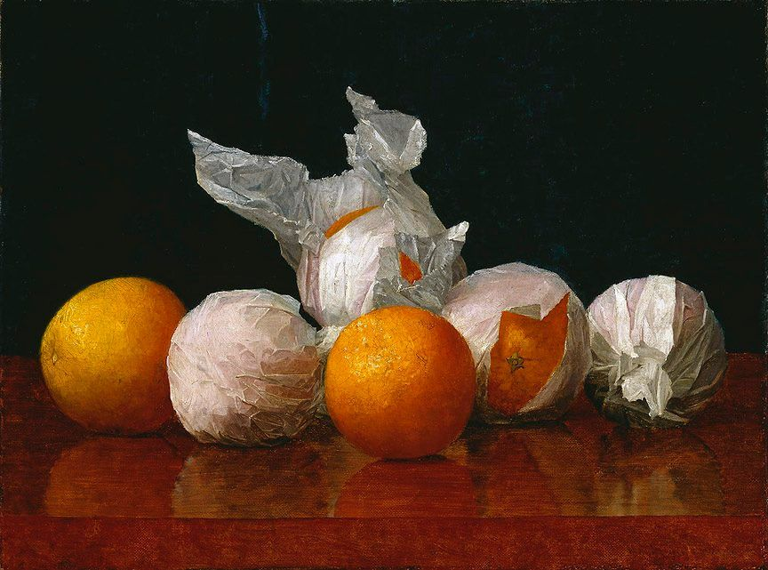 William J. McCloskey, Wrapped Oranges, 1889.