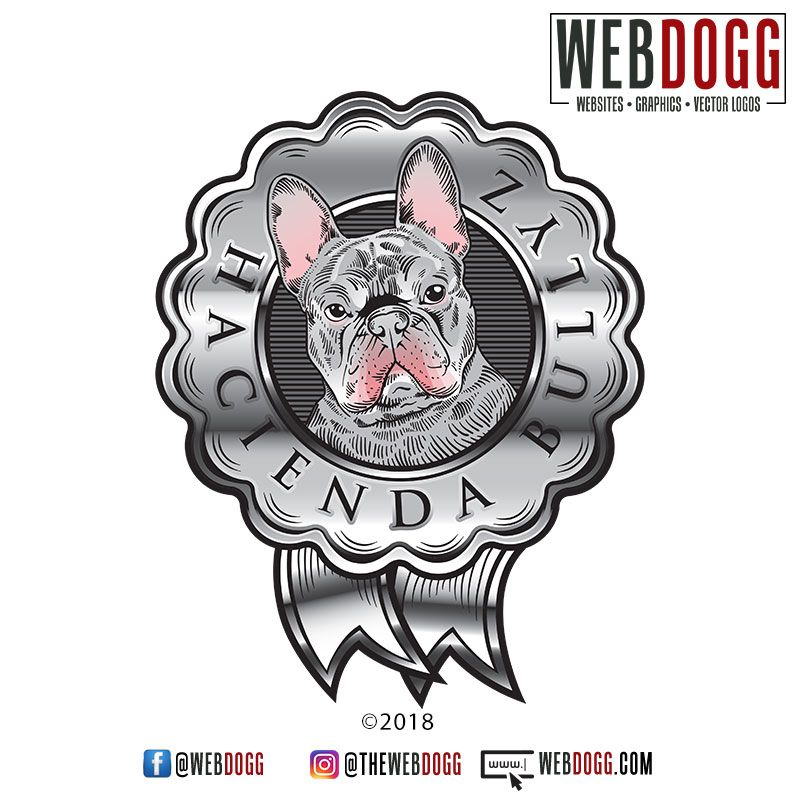 Custom Vector Logo Design For Hacienda Bullyz French Bulldog Breeder