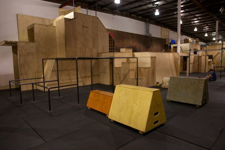 Boxes Bars Walls Foam Pit Trampoline