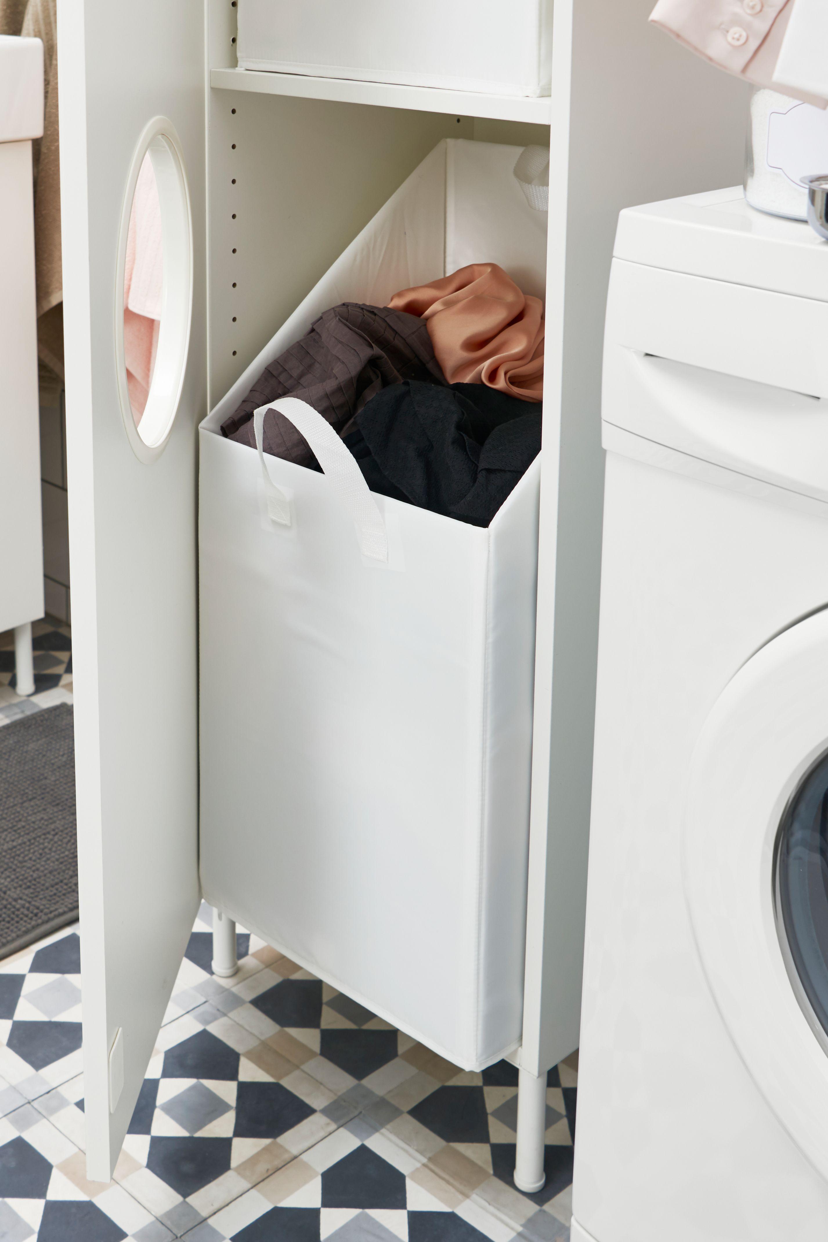 Ikea Deutschland Unsere Badezimmermobel Helfen Beim Organisieren Und Ordnunghalten Der Wascheschrank Wascheschrank Ikea Waschekorb Schrank Waschkuchendesign
