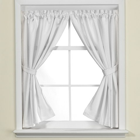 westerly bathroom window curtain pair in white | blinds