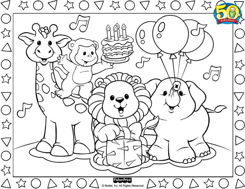fisher price coloring pages # 0