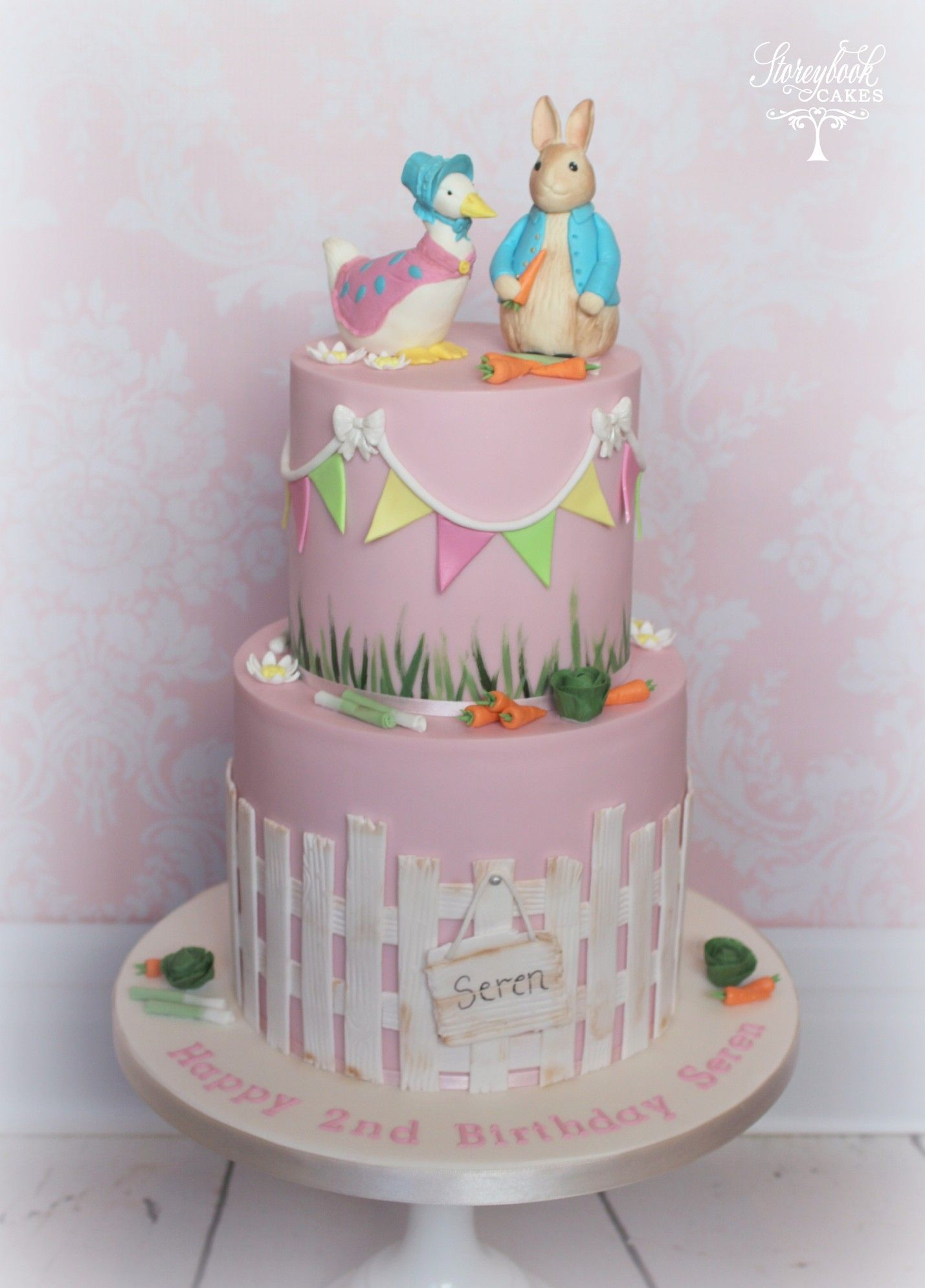 ac1e3f6afb9f Jemima Puddle Duck Cake Peter Rabbit Cake, Beatrix Potter Cake, Girls Christening  Cake