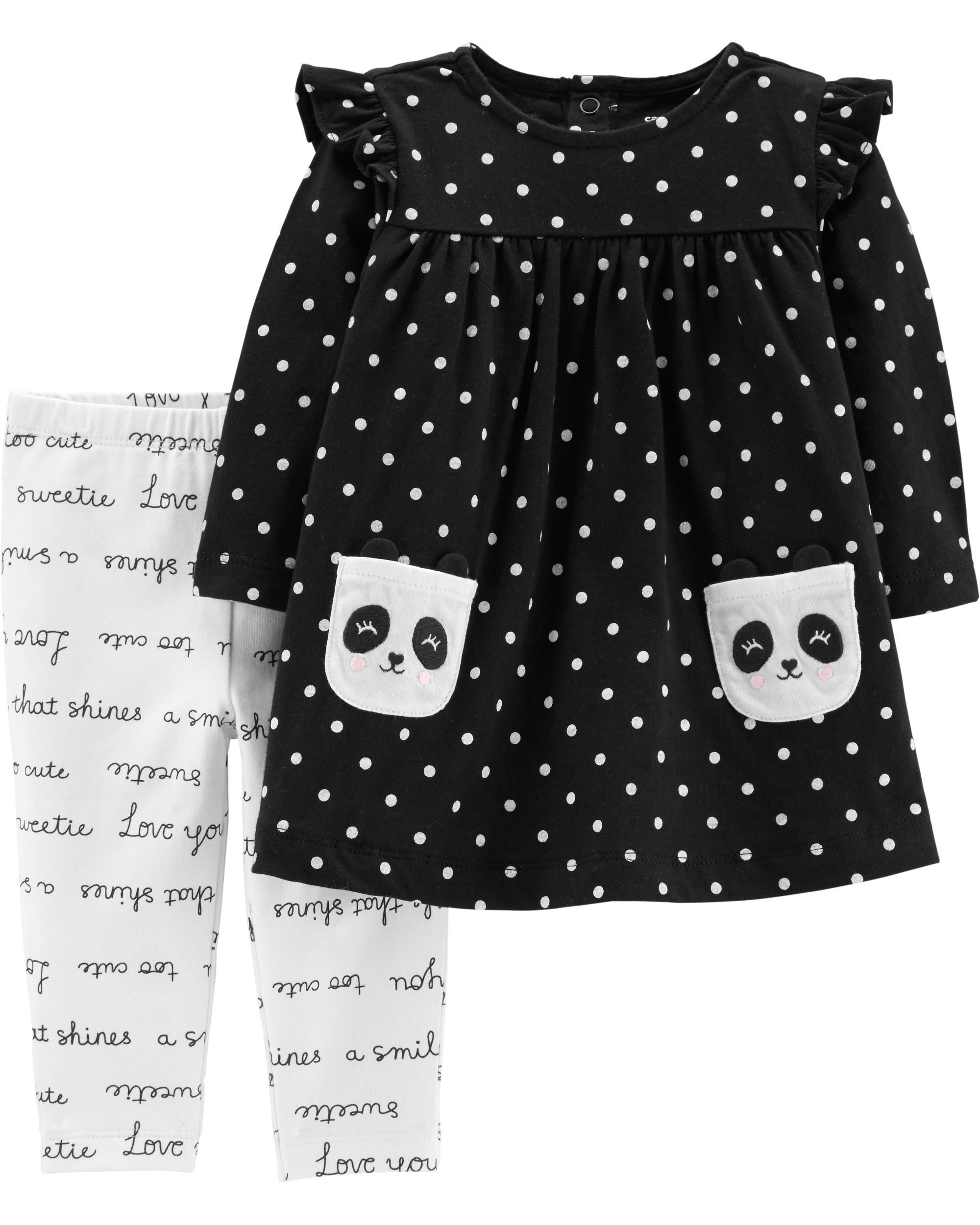 ee15e8cf2db6 2-Piece Panda Dress & Slogan Legging Set | I am beyond hooked on ...