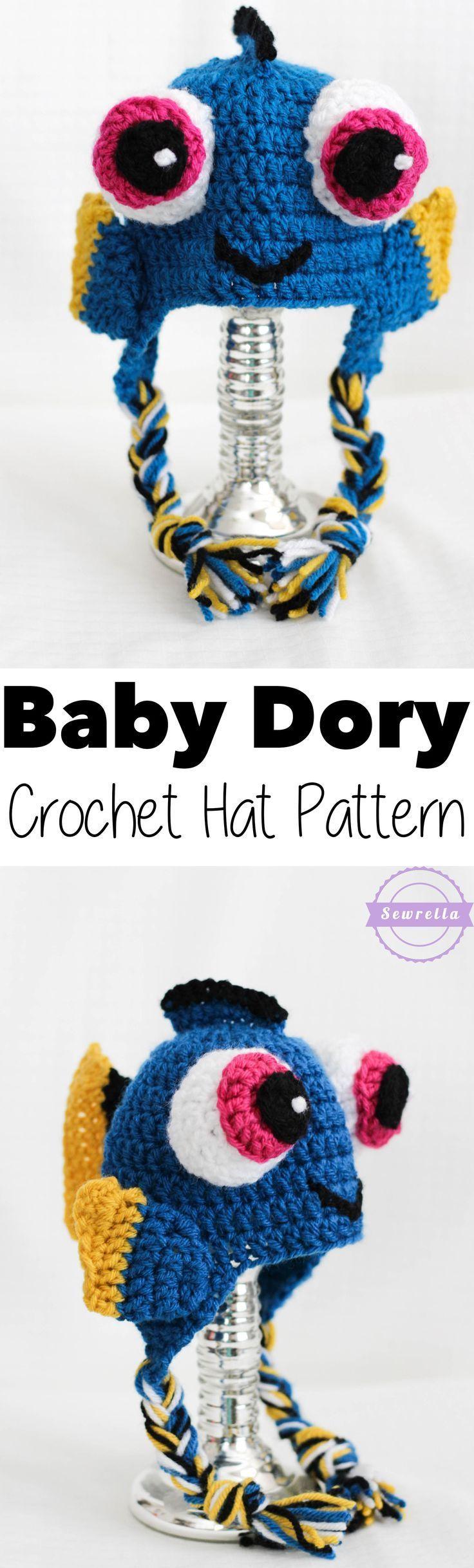 Baby Dory Crochet Hat | Free Pattern from Sewrella | Crocheting ...