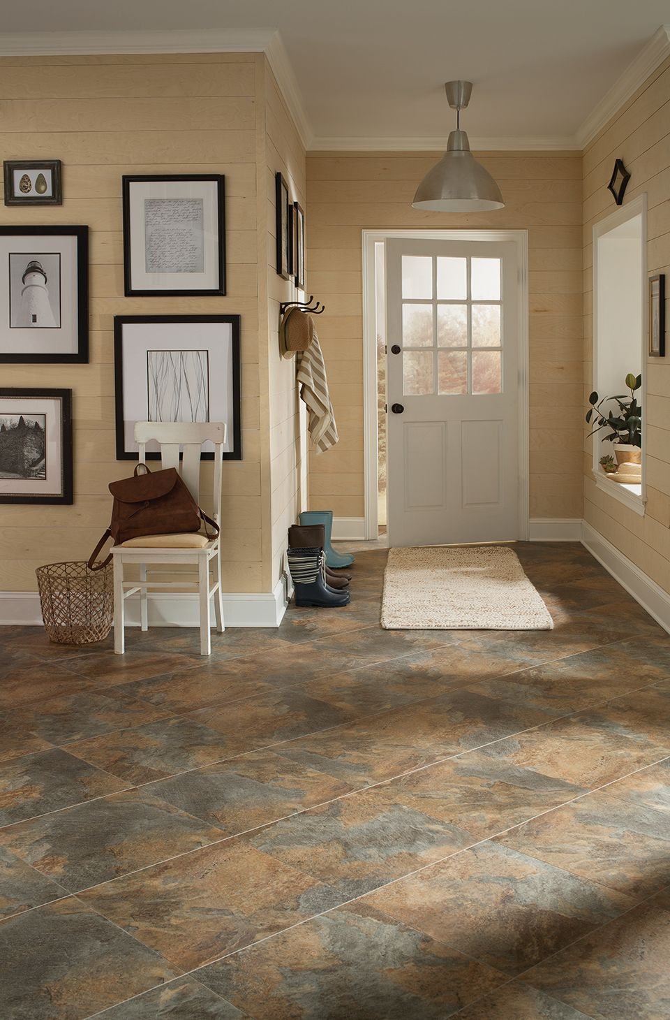 Stainmaster 18 In X 18 In Groutable Coppermine Peel And Stick Luxury Vinyl Tile Lowes Com Luxury Vinyl Tile Vinyl Flooring Kitchen Flooring