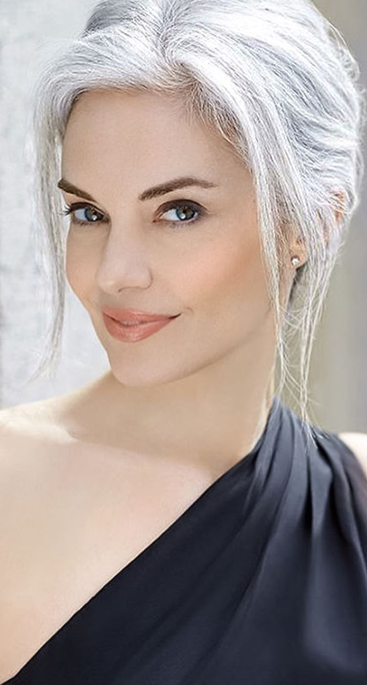 Gorgeous Grey White Updo Silver White Hair Silver Haired Beauties Silver Grey Hair