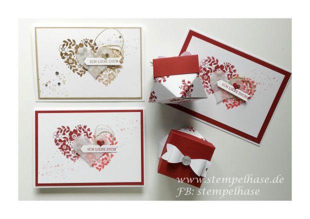 valentinstagsgeschenk selber machen mit bl ten der liebe von stampin up karten pinterest. Black Bedroom Furniture Sets. Home Design Ideas