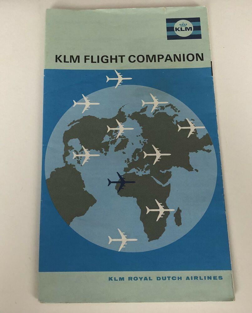 KLM Royal Dutch Airline Booklet Flight Companion Vintage