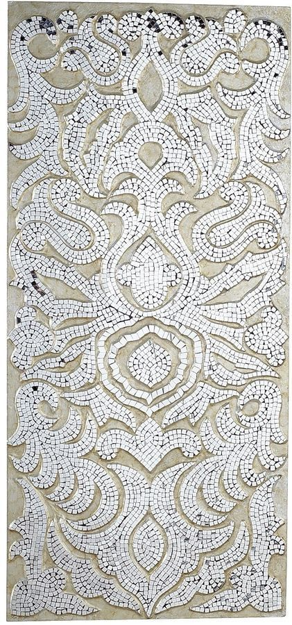 Champagne Mirrored Mosaic Damask Wall Panel | Products ...