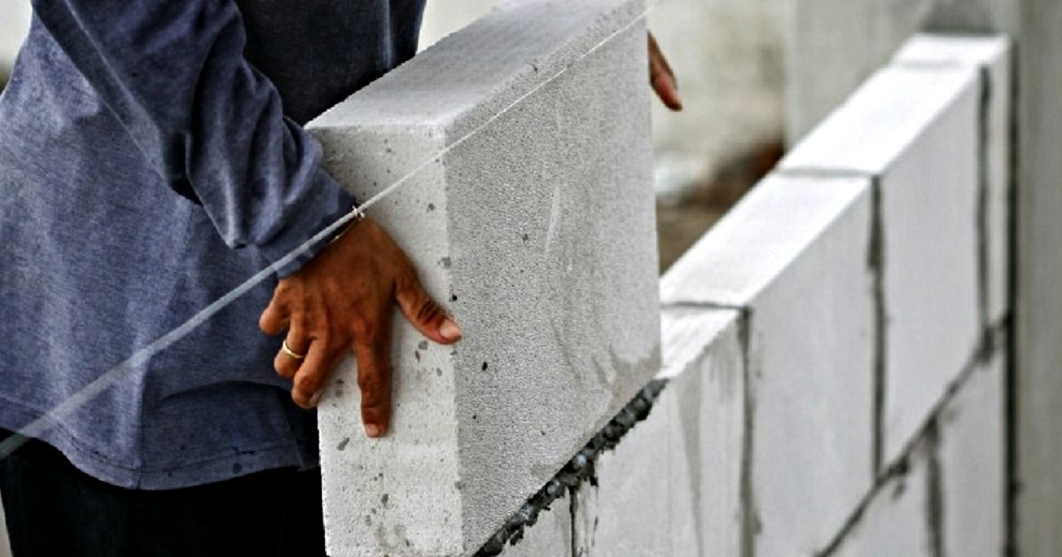 AAC block is made of Portland cement, fine aggregates (fly ash or
