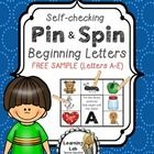 Try it before you buy it!  This is a free sample of my larger Beginning Letters Pin & Spin set that contains all 26 letters.  If you would like...