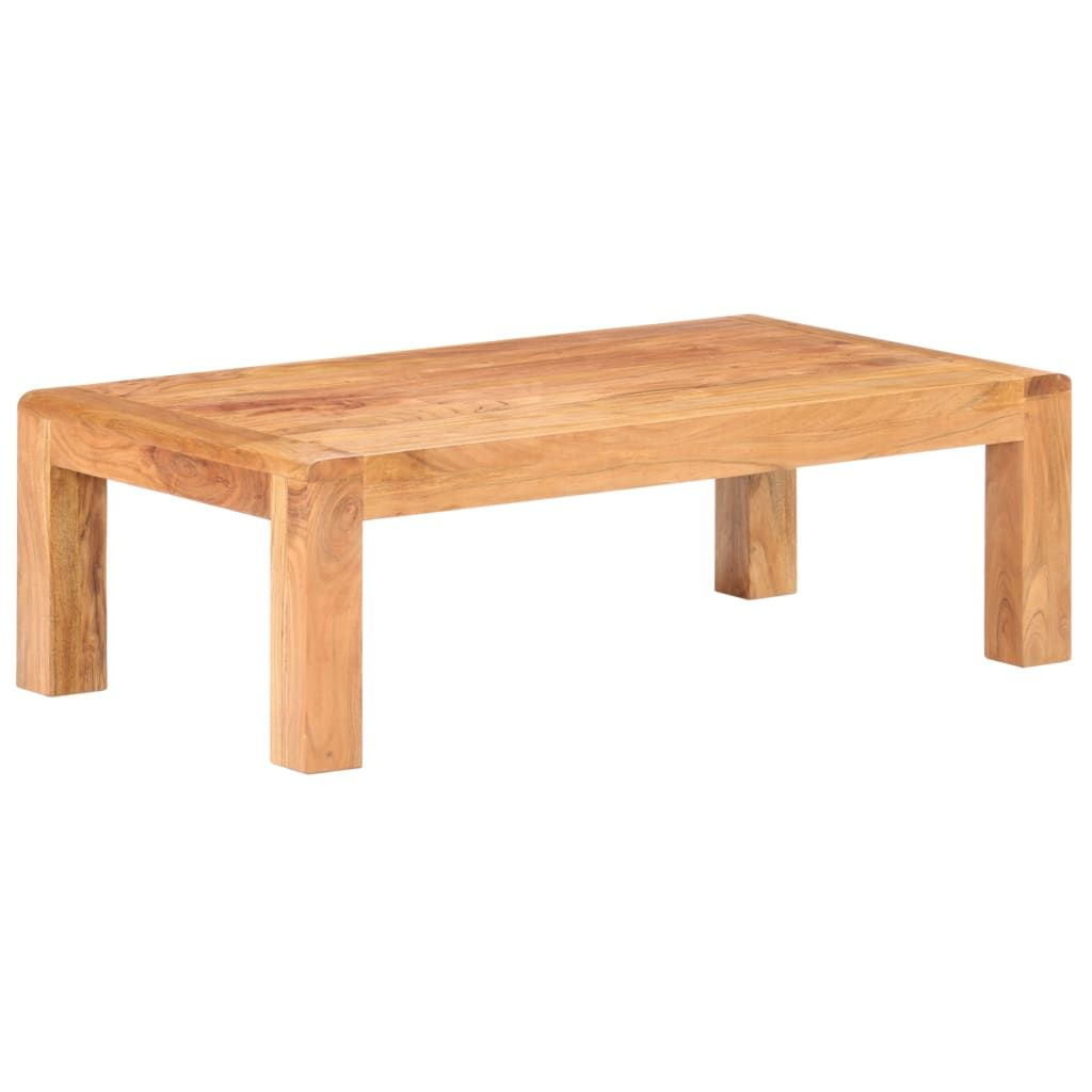 Add a rustic style to your existing interior with this solid acacia wood coffee table. This coffee table is made of solid acacia wood with a Sheesham finish, making it sturdy and stable. Acacia wood is a tough hardwood with beautiful grains that lasts for many years. Similar to acacia wood, Sheesham, known as rosewood or palisander, is also famous for its rich grains. Every step of the construction process is carried out with the most excellent care, be it polishing, painting or lacquering. Impo