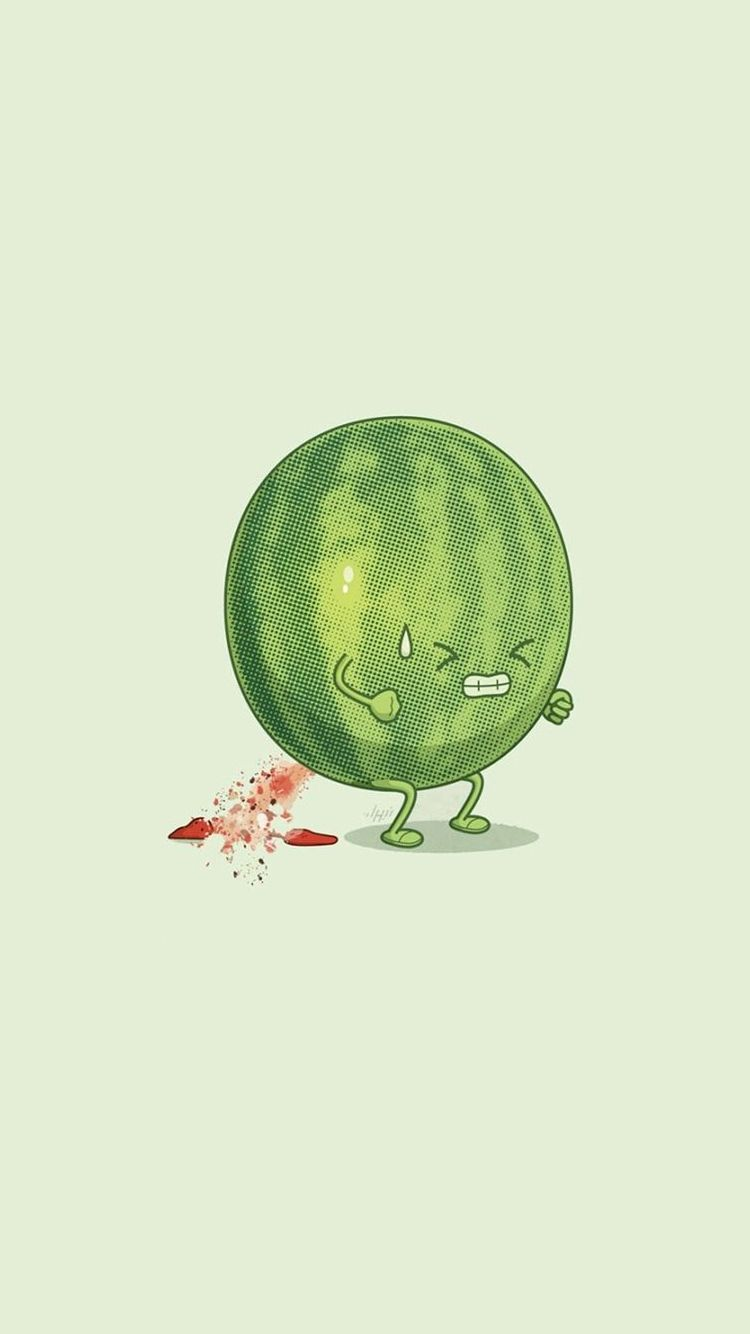 Watermelon Trying Hard Funny Iphone 6 Wallpaper Funny Iphone