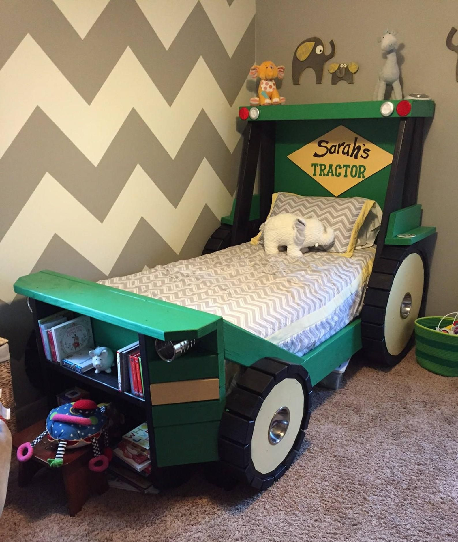 Tractor Bed PLANS (pdf format) Twin Size For a Kid