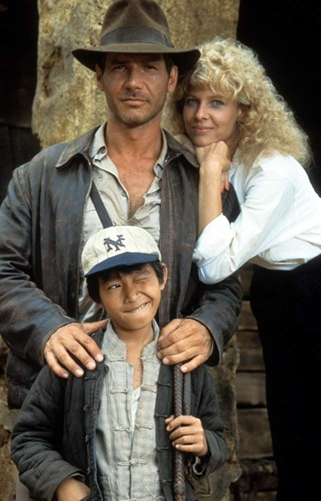 Harrison Ford Kate Capshaw And Jonathan Ke Quan In Indiana Jones And The Temple Of Doom 1984 Indiana Jones Films Harrison Ford Indiana Jones Harrison Ford