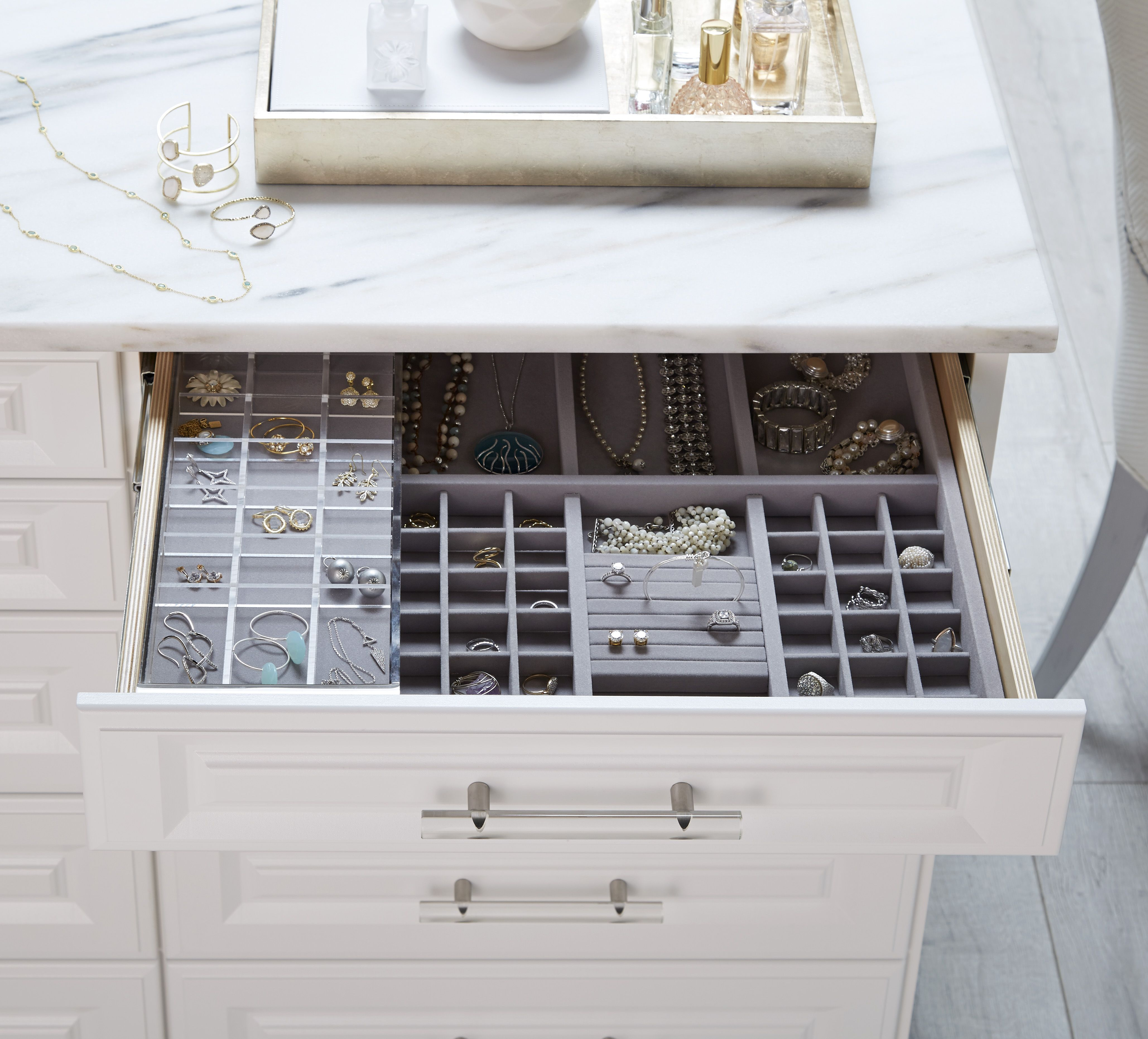 Have an extensive jewelry collection Create all the room you