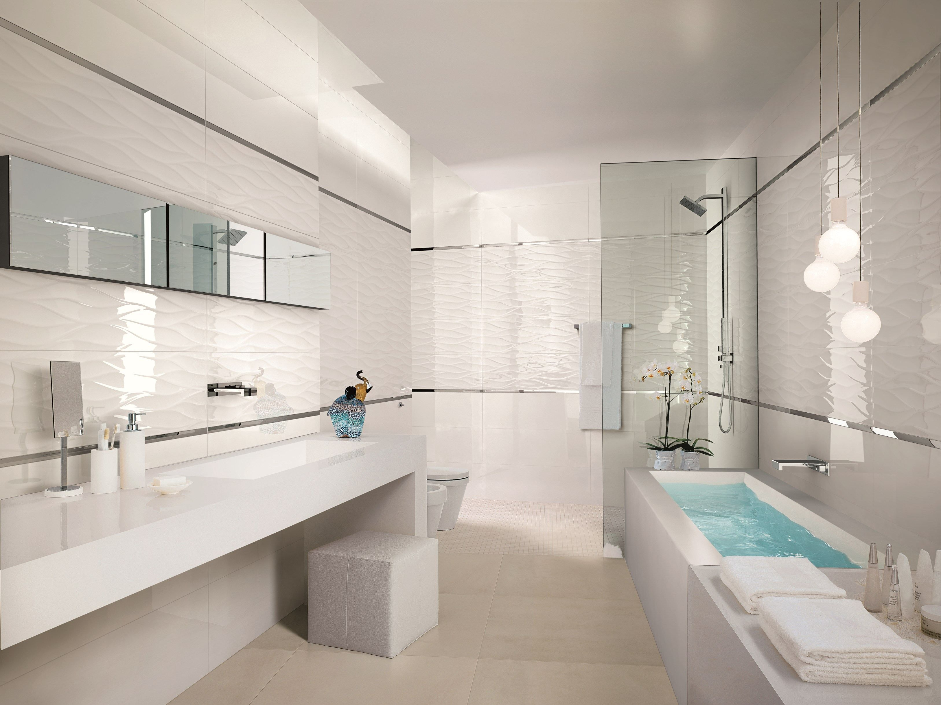 rev tement mural en c ramique p te blanche pour int rieur lumina by fap ceramiche salle de bain. Black Bedroom Furniture Sets. Home Design Ideas