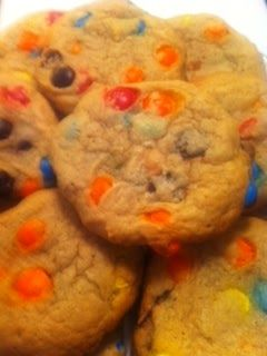 Battling the Home Front: Peanut Butter M&M Cookies