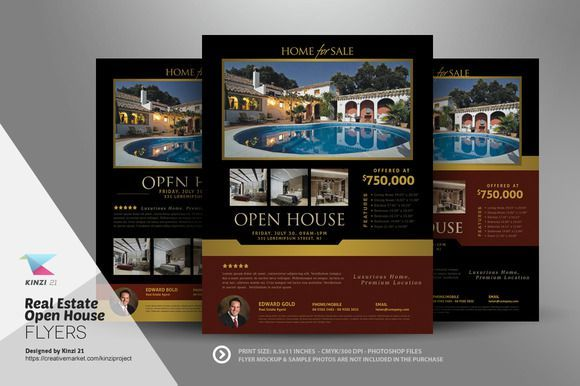 Open House Flyers With Financing Options Open House Flyer Ideas - Open house brochure template