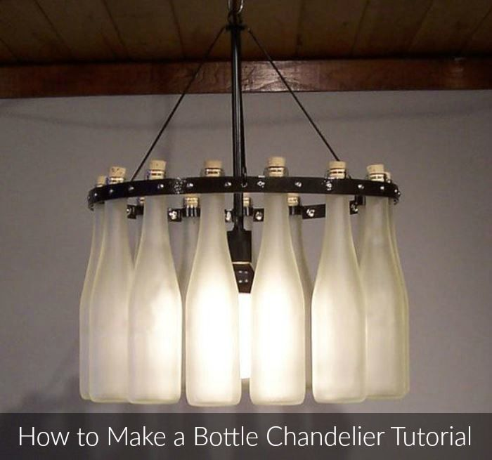 How to make a wine bottle chandelier accesorios y decoracin how to make a bottle chandelier tutorial watch the video to recycle your old wine aloadofball Gallery