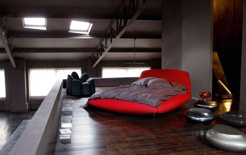 Rotes Schlafzimmer Design moderne inspirierende Schlafzimmer ...
