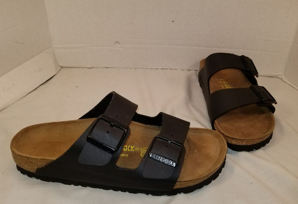 076430d33e0d NEW BIRKENSTOCK ARIZONA SOFT BLACK BIRKO FLOR SLIDE SANDALS WOMEN S 9 MEN S  7  Birkenstock  ARIZONA