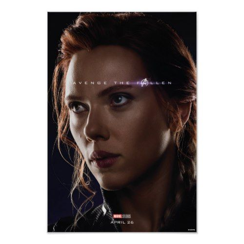 Endgame | Avenge The Fallen – Black Widow Poster | Zazzle.com