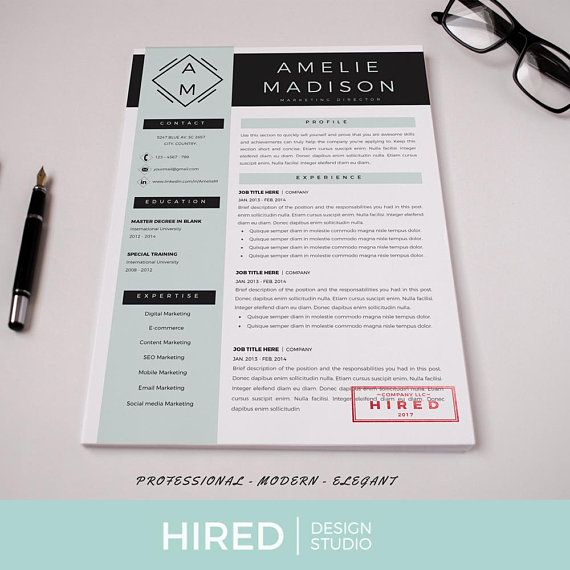 professional cv template for ms word and pages creative resume