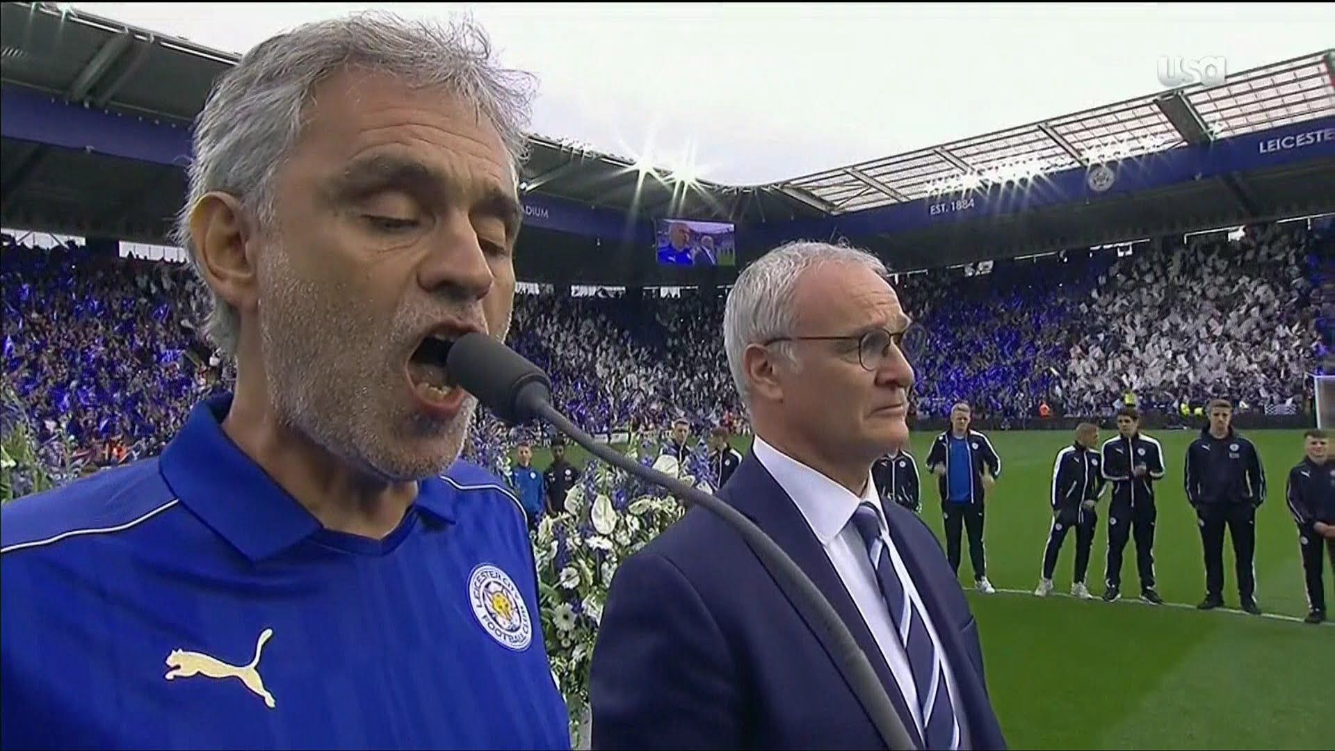 Andrea Bocelli vs. Leicester City Polo ralph lauren