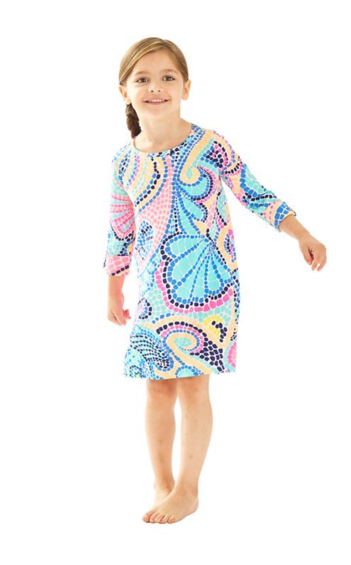 1d934b6a3884e3 The Mini Edna Dress is a cotton knit tunic dress with a waterfall hem and  rolled…