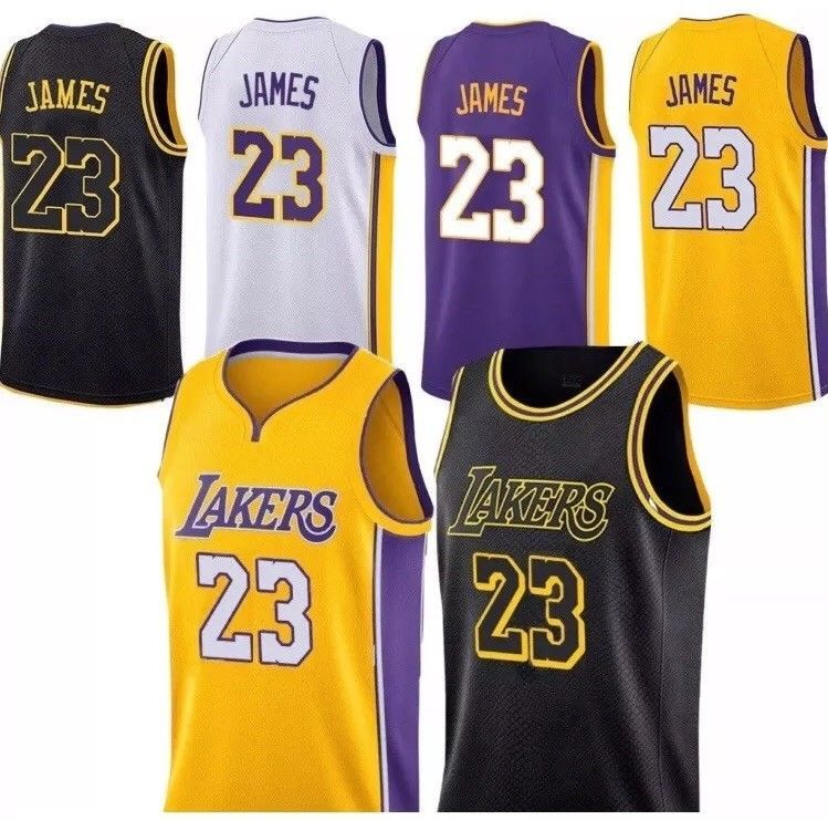 quality design fb789 6071b Details about NWT LeBron James #23 Los Angeles Lakers Men's ...