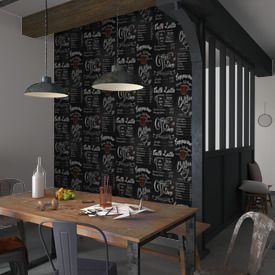 Papier Peint Coffee Ardoise Coloris Noir Papier Peint