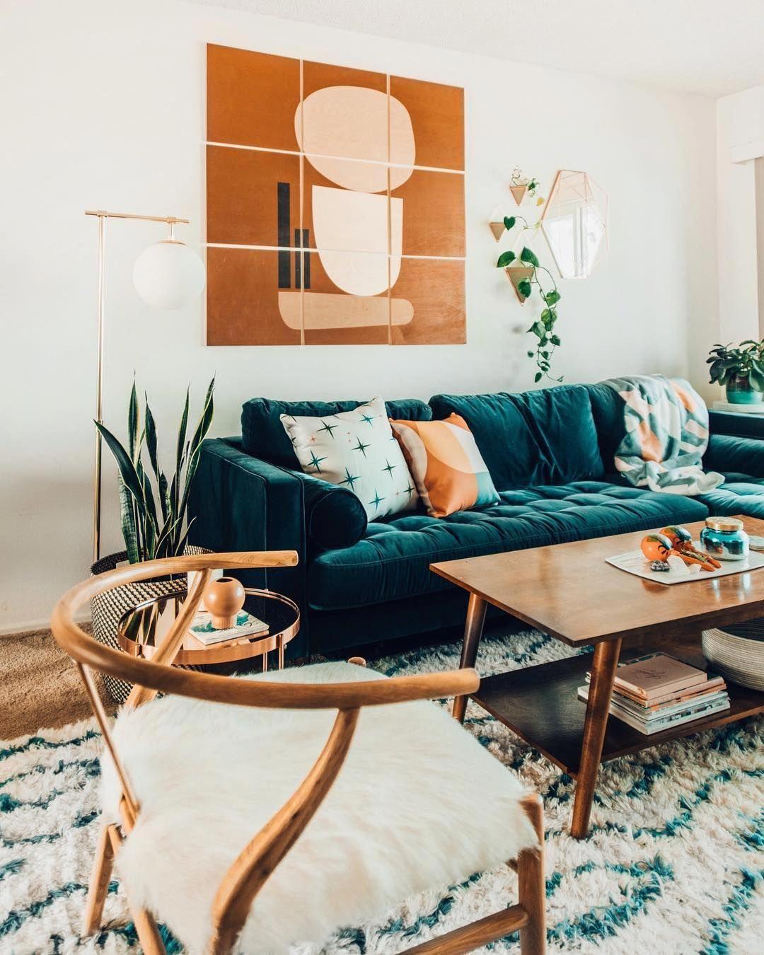 Blue Velvet Sofas With Creative Living Room Decor Ideas Livingroomfurniturechairs Teal Sofa Living Room Velvet Sofa Living Room Teal Couch Living Room
