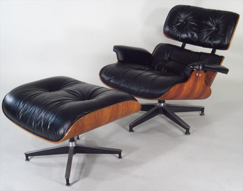 Charles and Ray Eames for Herman Miller, Modern Armchair and Footstool, 1978