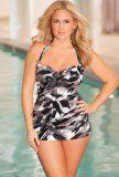 Penbrooke Grey Studio Art Plus Size Glam Sheath Swimsuit Plus Size Swimsuit:Amazon:Clothing