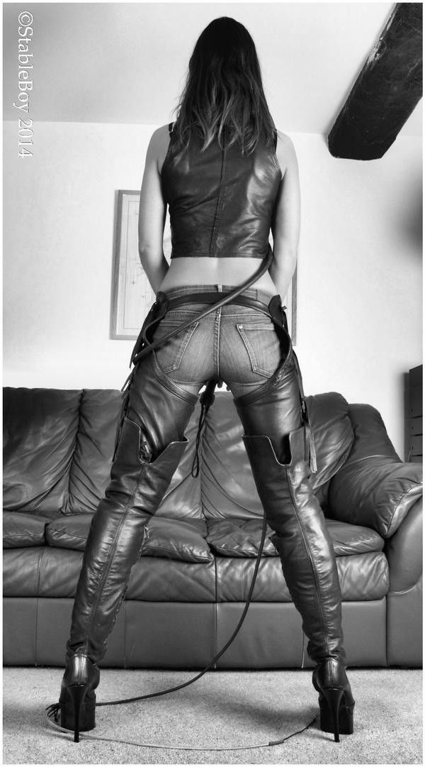 Fucked in leather jacket