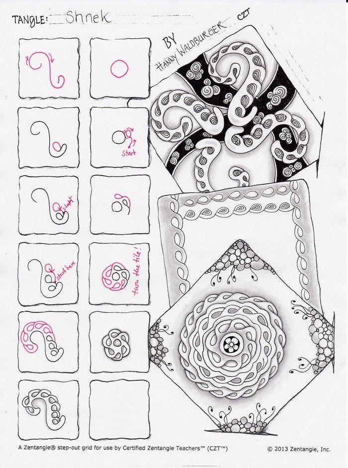 Shnek Step Out By Zenjoy Knotenkiste Pinterest Zentangle