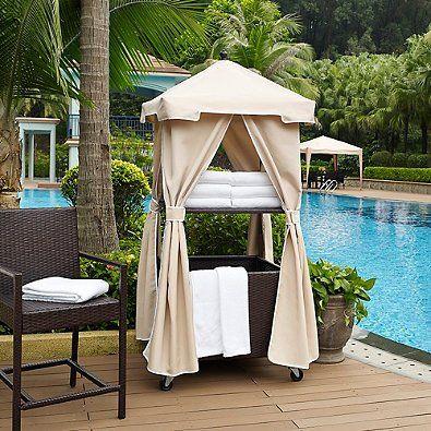 Amazon.com: Crosley Palm Harbor Outdoor Wicker Towel Valet in Brown/Sand: Kitchen & Dining