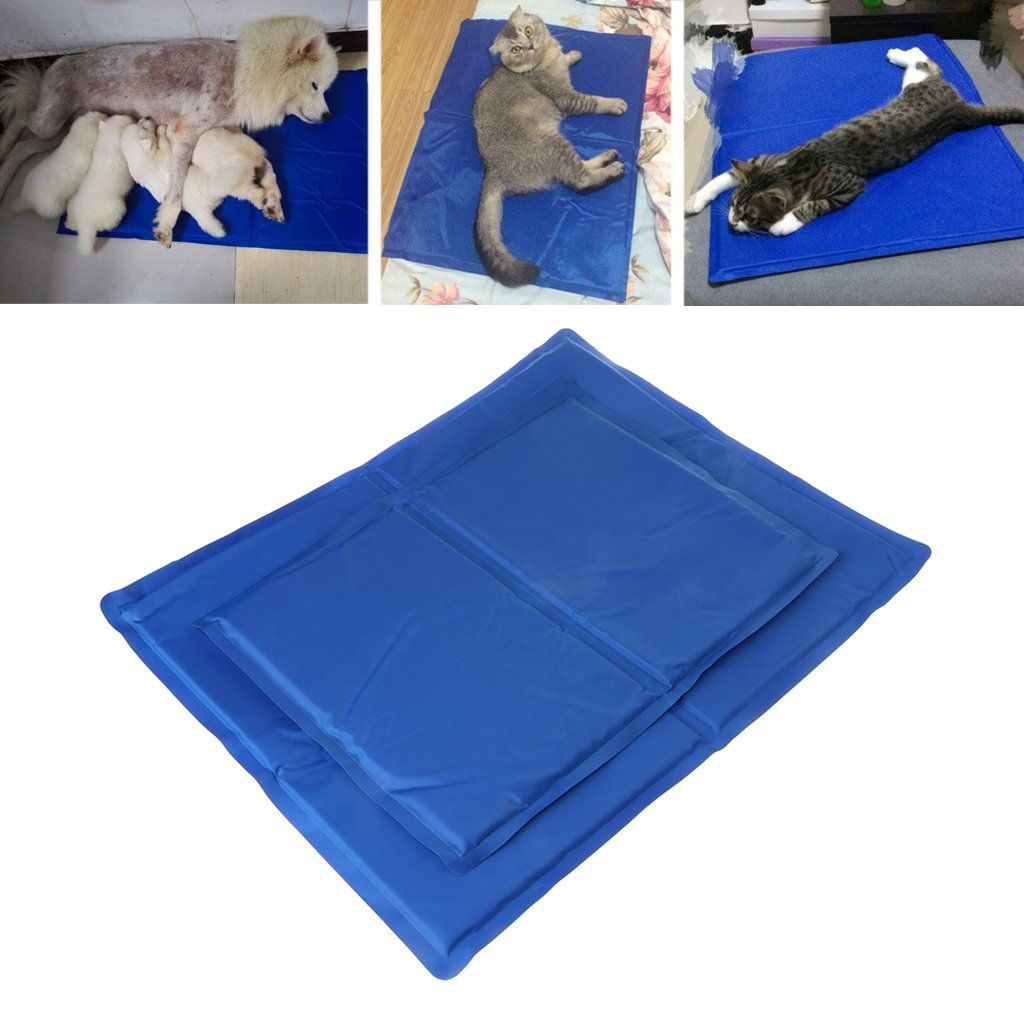 Poity Pet Cooling Pad Summer Gel Mat Bed Cooler Canine Dog Cat Non