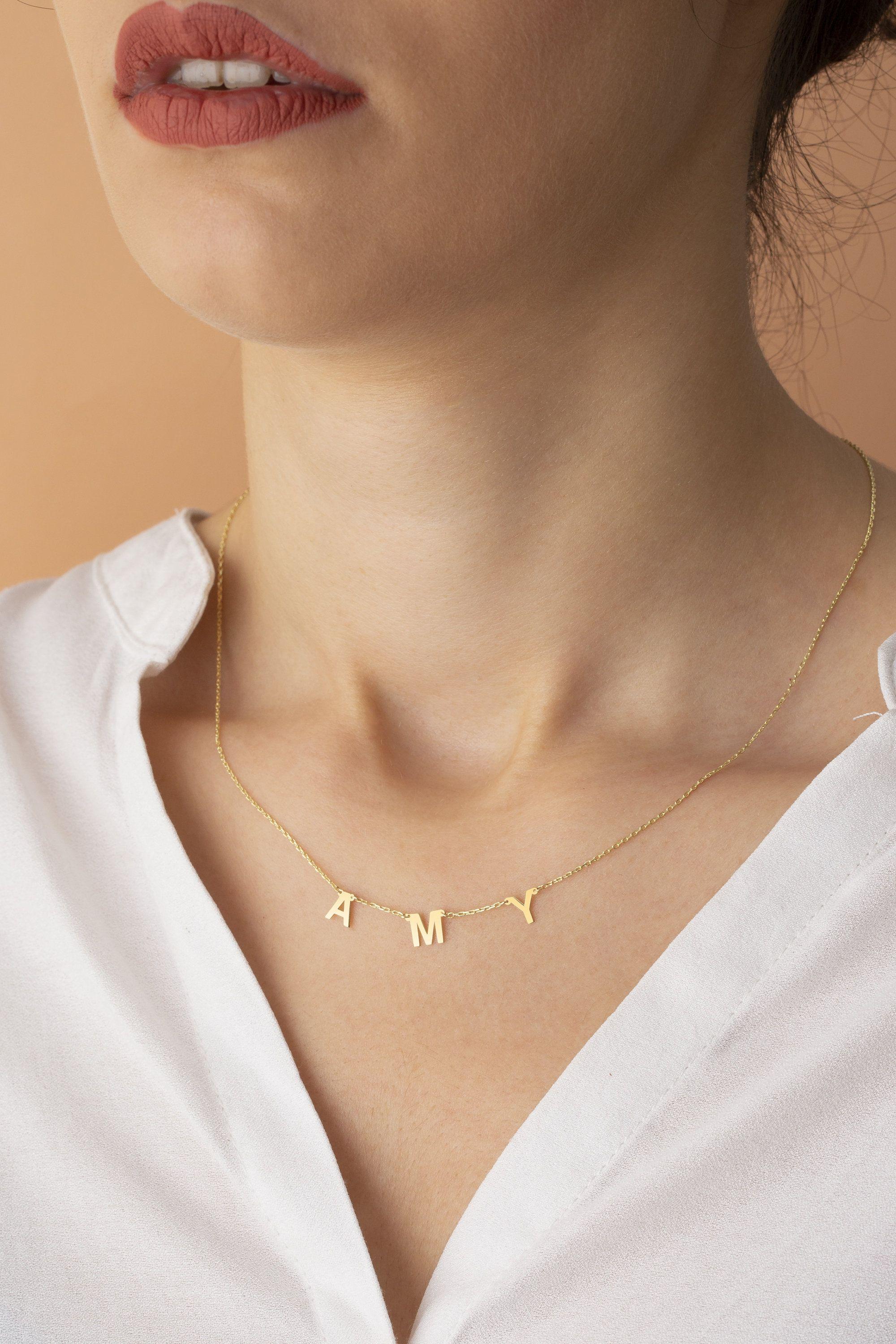 38++ Letter e necklace white gold ideas