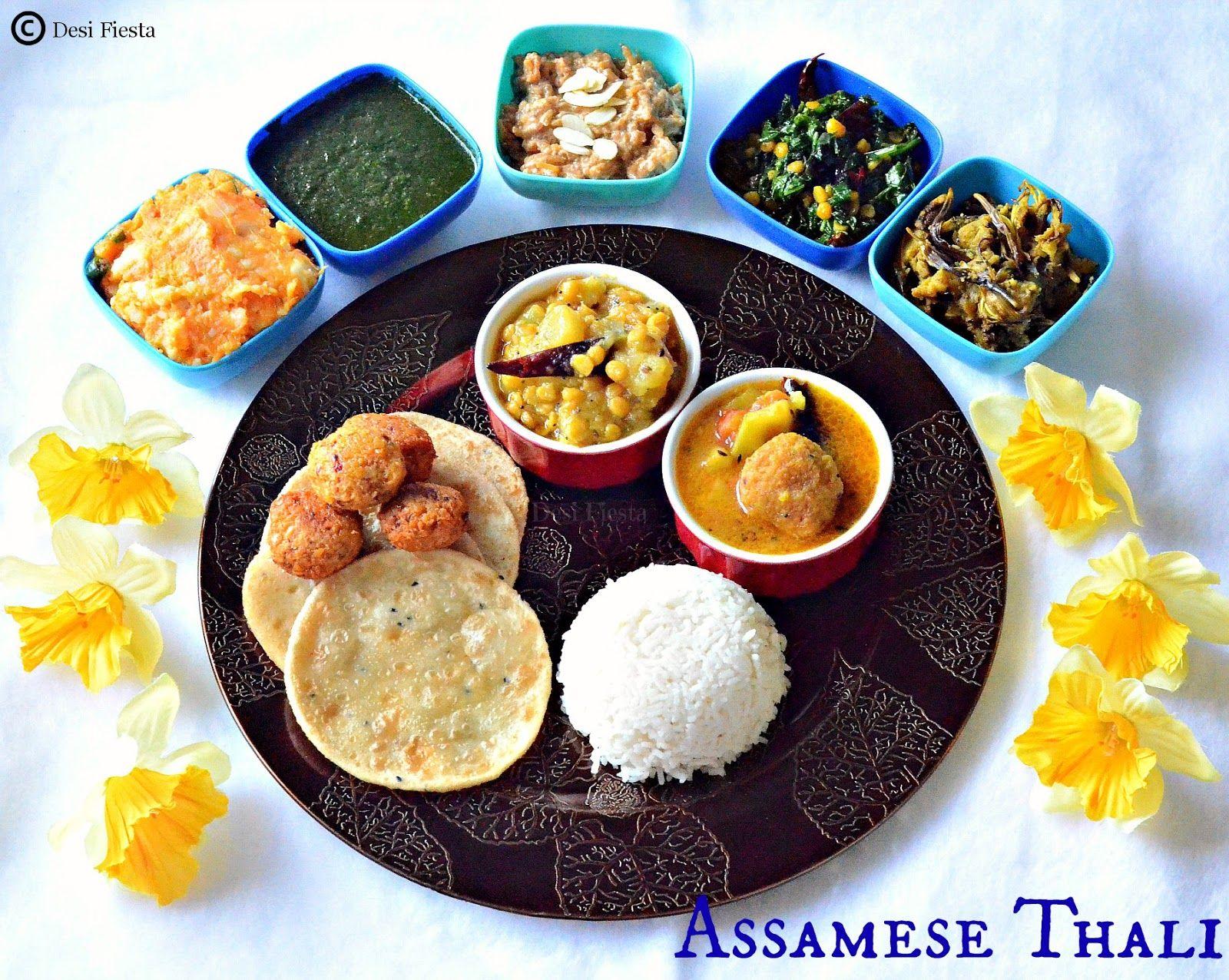 Assamese thali assam recipes pinterest cuisine food for Assamese cuisine