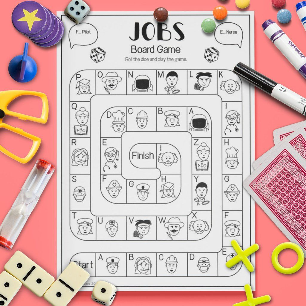 Jobs Vocabulary Board Game