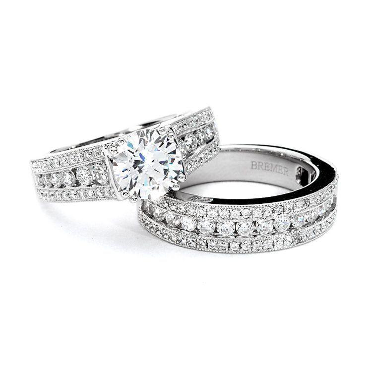 Wedding Ring Sets Without Center Stone Wedding Rings Wedding Ring Sets Rings