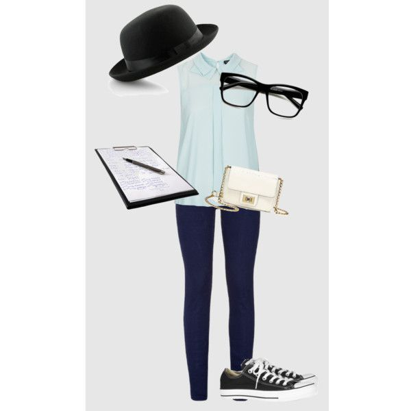 News Reporter by kadebah on Polyvore featuring polyvore, fashion, style, Topshop, True Religion, Converse and Juicy Couture