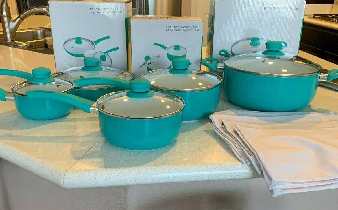 Servapetit 10 Piece Kitchen Nonstick Frying Pan Cookware Set W