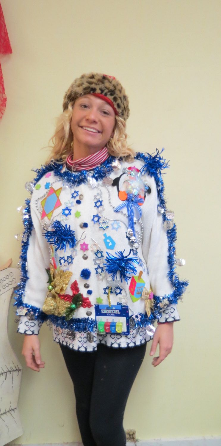Festive Frock Light Up Mens Or Womens Tacky Ugly Christmas Cardigan