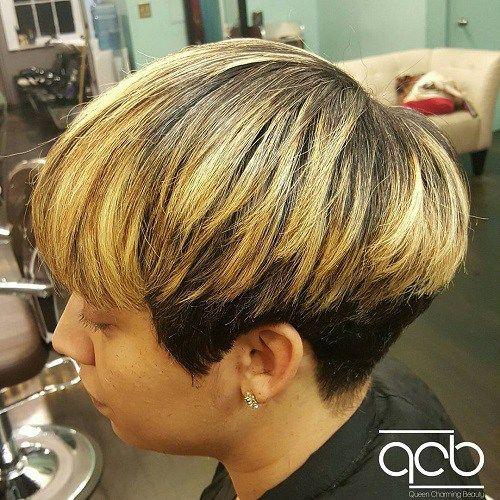 20 Wonderful Wedge Haircuts | Black bob, Golden blonde and ...