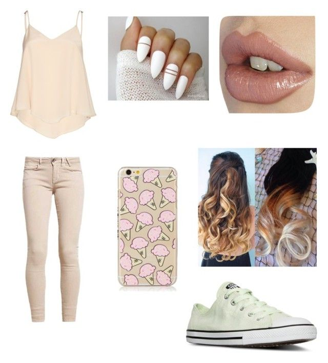 """Fun Date Night"" by darkmagic32 ❤ liked on Polyvore featuring Converse and Alice + Olivia"