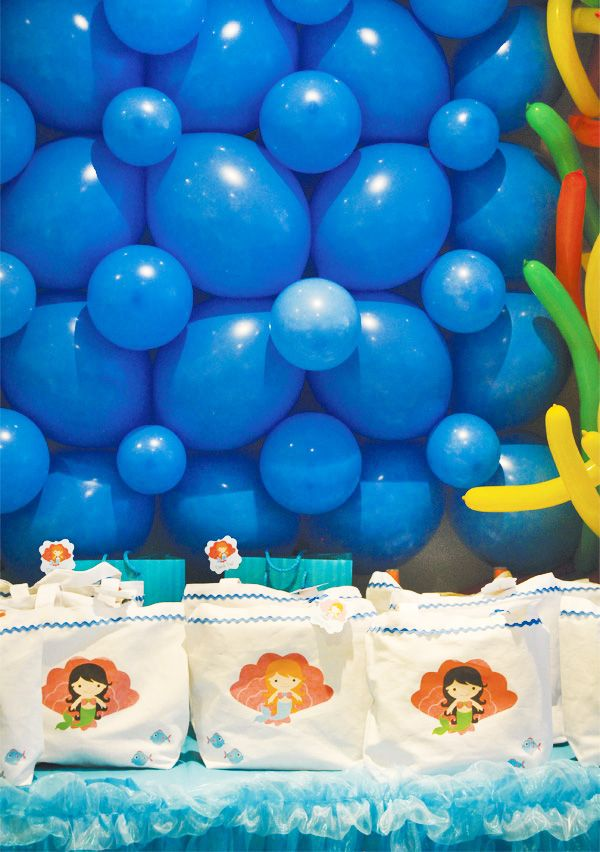 Adorable Under the Sea Party Balloon Wall Backdrop Balloon
